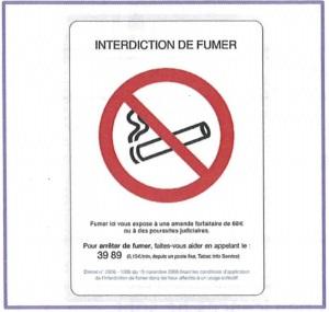 affiche interdiction de fumer